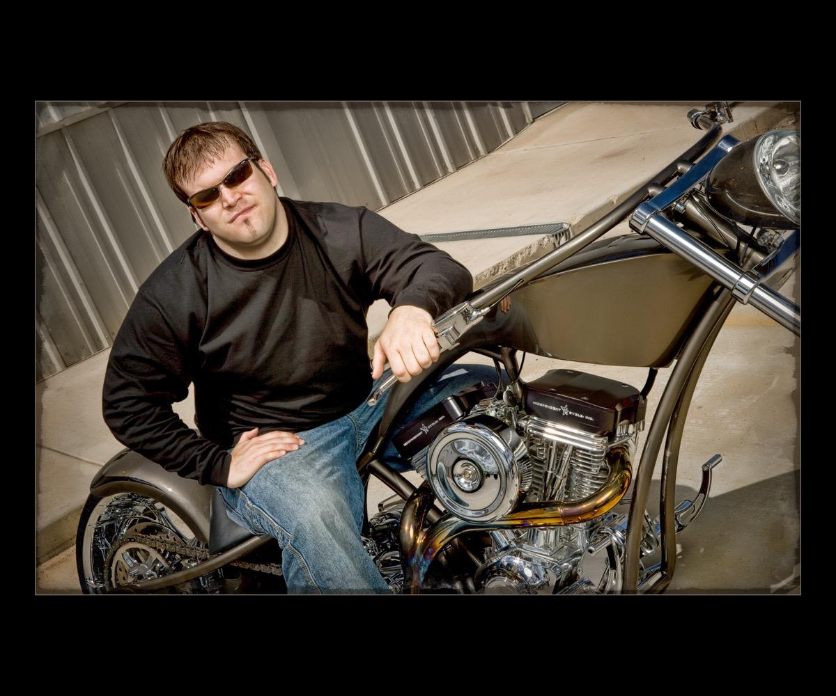 Custom Motorcycle Portrait Photographer in Rapid City, SD by Kevin Eilbeck