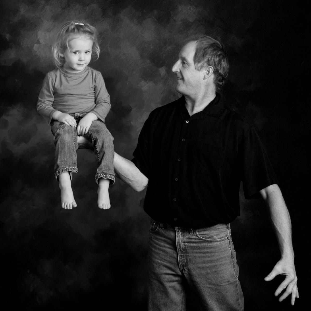 Father & Daughter Maternity Portrait Photographer in Rapid City, SD by Kevin Eilbeck