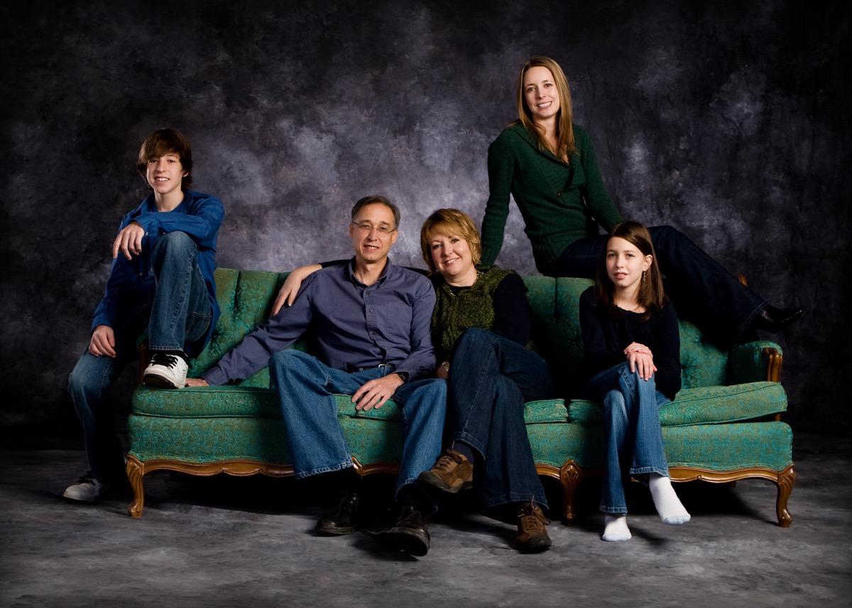 Green Couch - Family Photographer - Rapid City, SD by Kevin Eilbeck