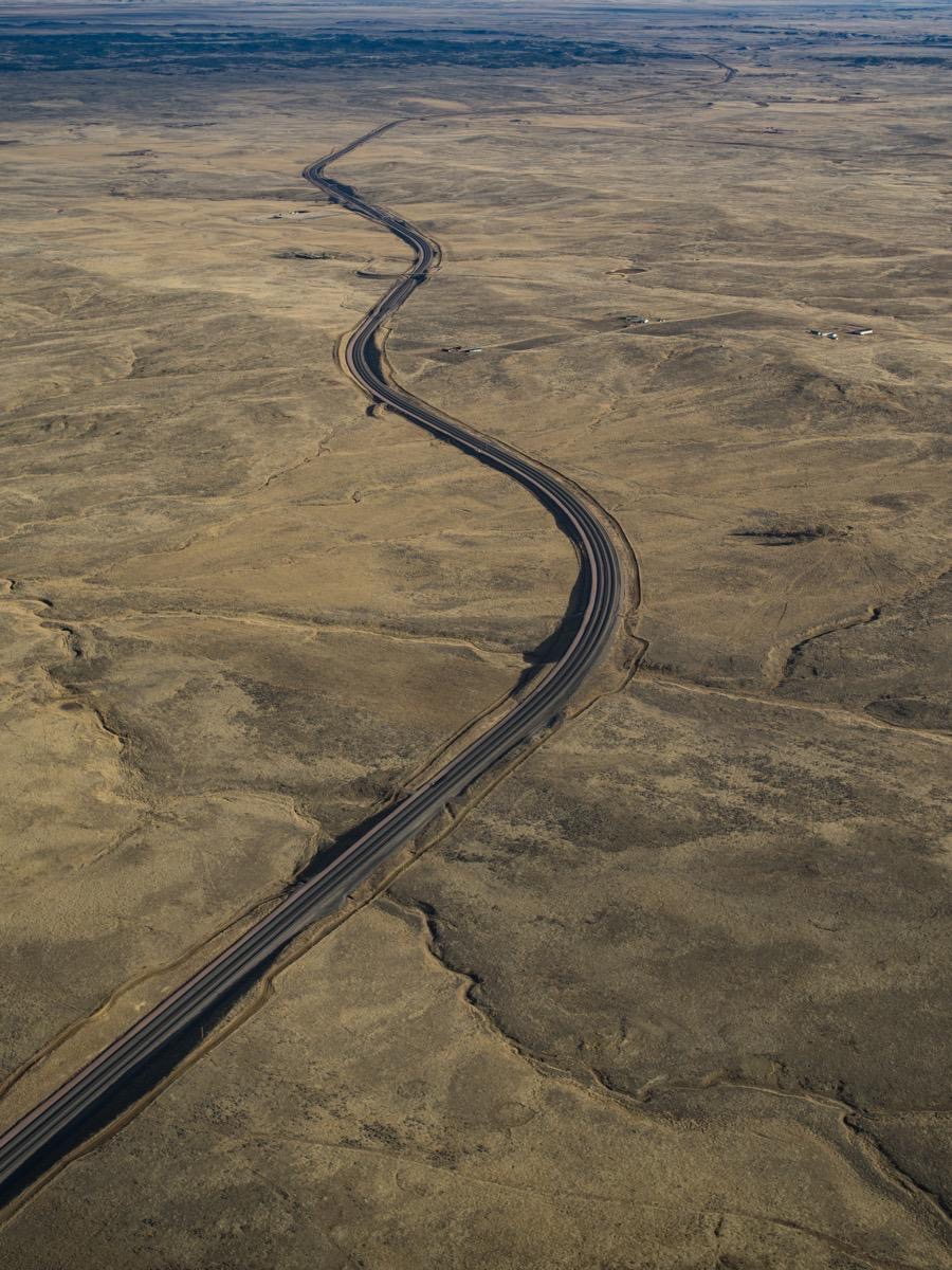 Road - Aerial Photographer - Rapid City, SD by Kevin Eilbeck